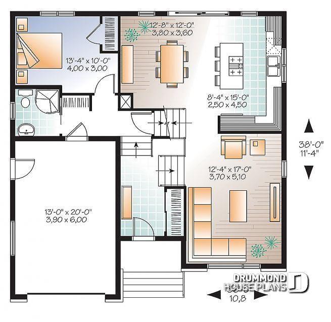 House Plan Logan No 3490 Three Bedroom House Plan House Plans Bedroom House Plans