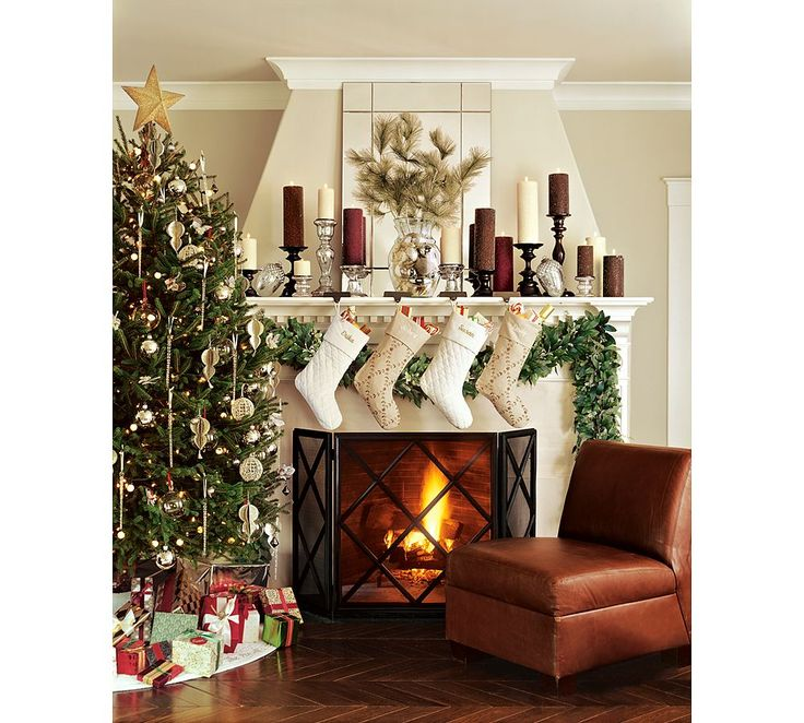 Holiday Decor Gift Ideas Pottery Barn Edition All My: Christmas Tree And Mantel