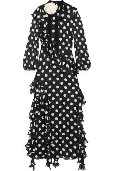 Black and ivory silk-charmeuse Button-fastening keyhole at back, concealed zip fastening along side 100% silk; trim: 50% viscose, 50% cotton; lining: 90% silk, 10% elastane Dry clean Made in Italy As seen in The EDIT magazine