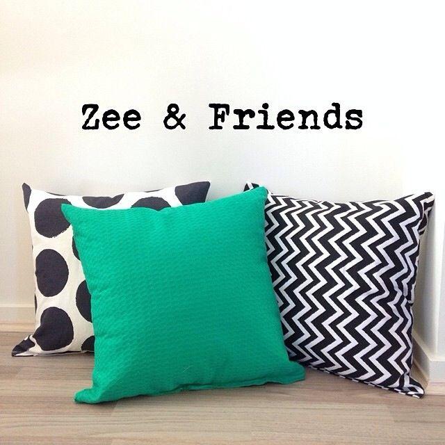 Stripes, chevron & plain cushions