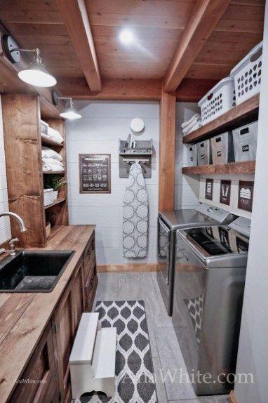 Simply Farmhouse Laundry Room Design Ideas 01 Laundry Room