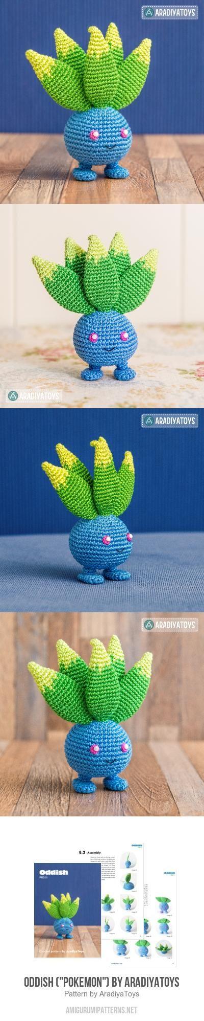 "Oddish (""Pokemon"") Amigurumi Pattern"