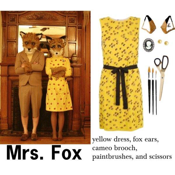 The Fantastic Mrs. Fox Halloween Costume DIY via History & High Heels