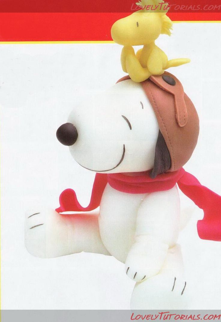 how to make snoopy fondant
