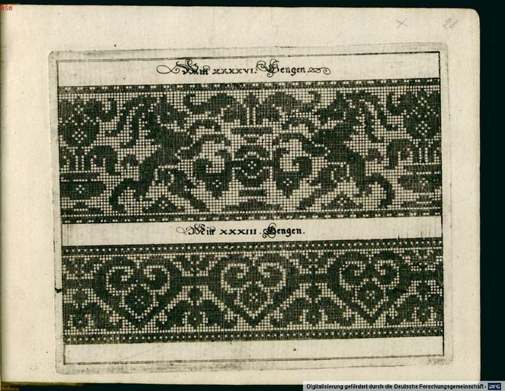 A wonderful resource of textile charts, from Johann Siebmacher's 1597 Neues Modelbuch.  Free online.