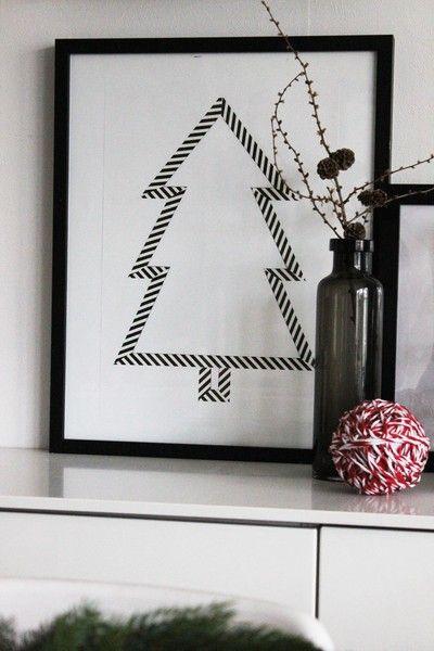 Inspiration & design - Grantavla av washitejp