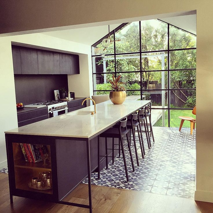 Crittal windows cement floor