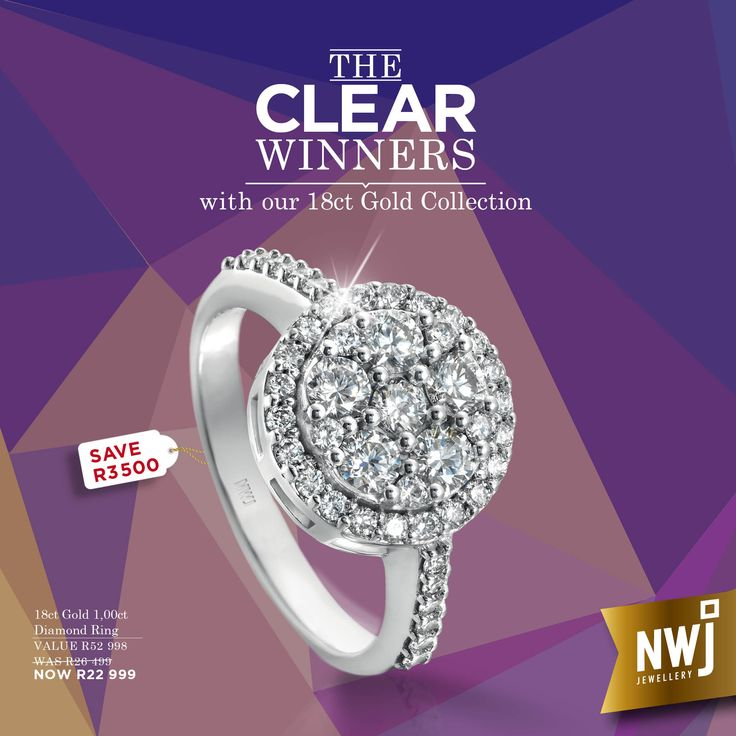 18ct Gold and 1,00cts of dazzling diamonds. You deserve diamonds...