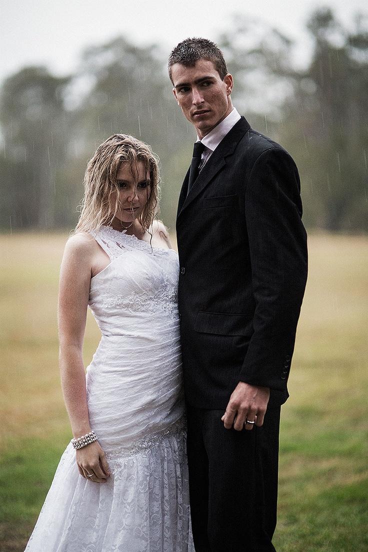 Brisbane Wedding   Ben and Courtney in the rain - trash the dress - fashion meets bridal by www.richardgrainger.com.au