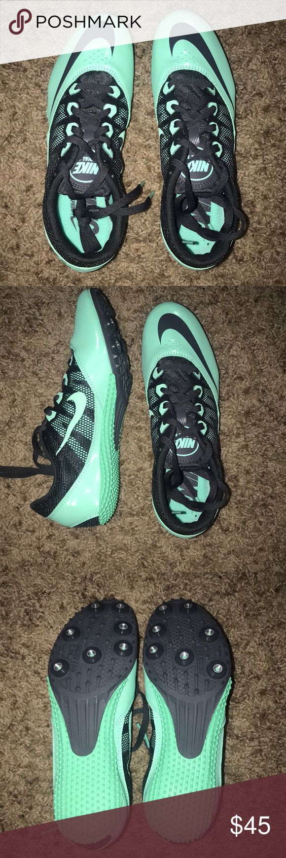 NIKE RUNNING/TRACK SHOES NWT nike track shoes including spikes. can be men's size 5 or women's size 7. NEVER WORN Nike Shoes Athletic Shoes