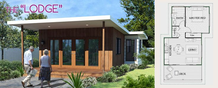 The Lodge by Lifestyle Granny Flats. Cool and funky - who'd have thought a #grannyflat could look so great! It's like having a beach shack in your backyard.