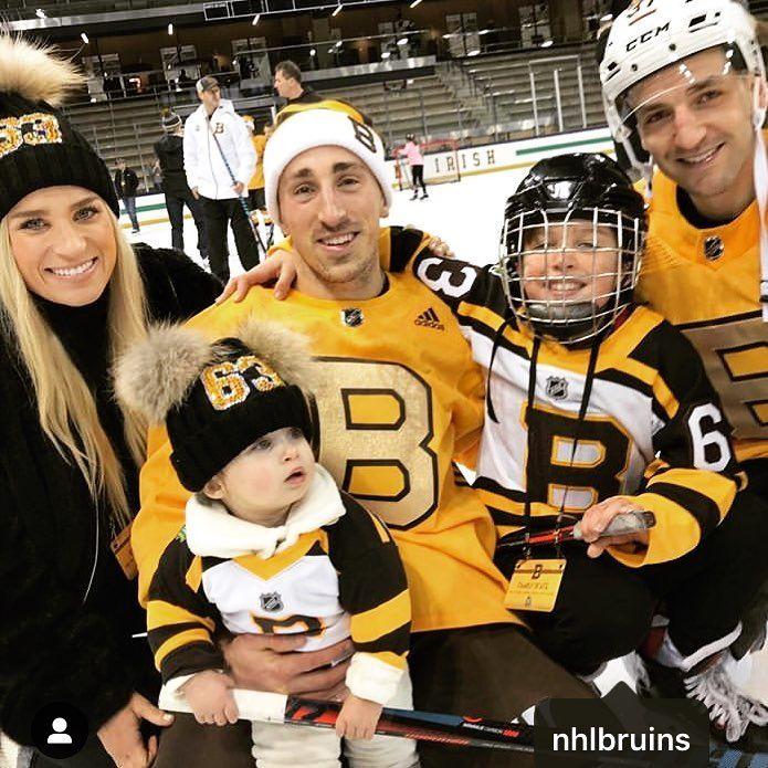Brad And Katrina With Their Kids Sloane And Brittany Marchand Bruins Hockey Boston Hockey Boston Bruins