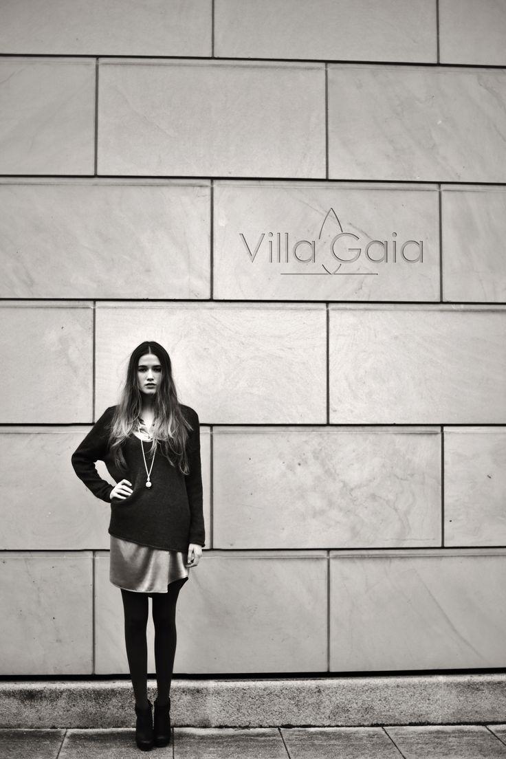 villa gaia, hairy v-sweater