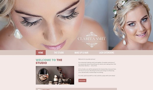 Clarita Smit is a professional make-up artist and applier of eyelash extensions. She approached us for an innovative Website design which will display her work to clients.  We came up with the solution of designing a vibrant website that will also function as an interactive platform for potential clients to contact her, comment on her work and share Clarita's work with friends. Clarita will also be able to manage the content of her website and update it regularly.