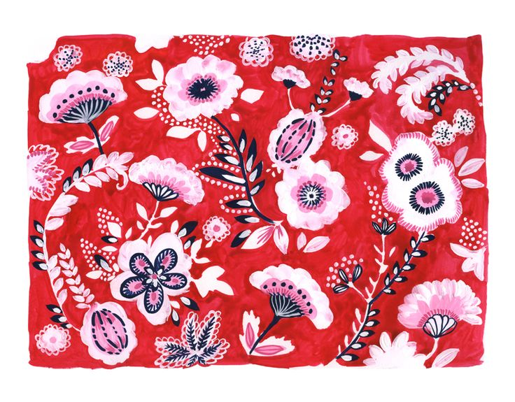 #広告 #花 #flower #デザイン #お洒落 #可愛い  #illustration #kanakobayashi #art #illust #パッケージ #pattern #柄 #模様