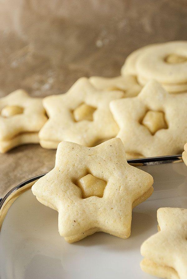 Recipe in German: Baileys-Plätzchen mit Puddingfüllung
