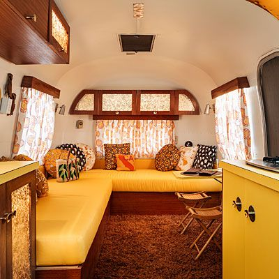 Mad for mod Airstream interior