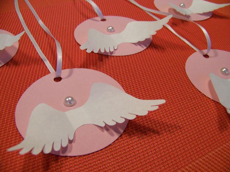 HANDMADE TAGS / decoration by Lady Lu * #christmas #vanoce #andel #angel #decoration #dekorace #zima #ochrance #kridla #wings #ladylu #paper