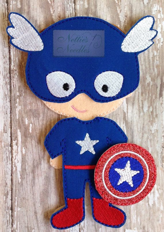 Hey, I found this really awesome Etsy listing at https://www.etsy.com/listing/227931048/captain-america-felt-doll-captain