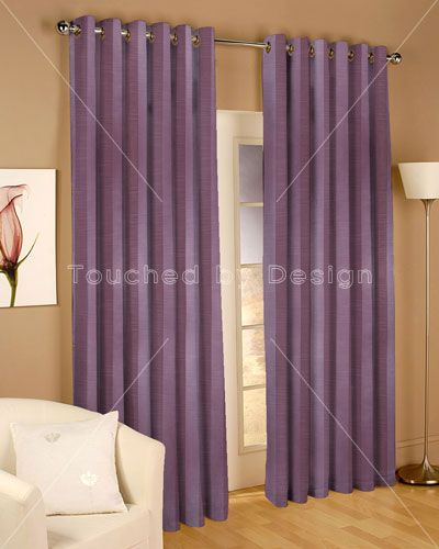 Touched By Design Mono Stripe Mauve Curtain