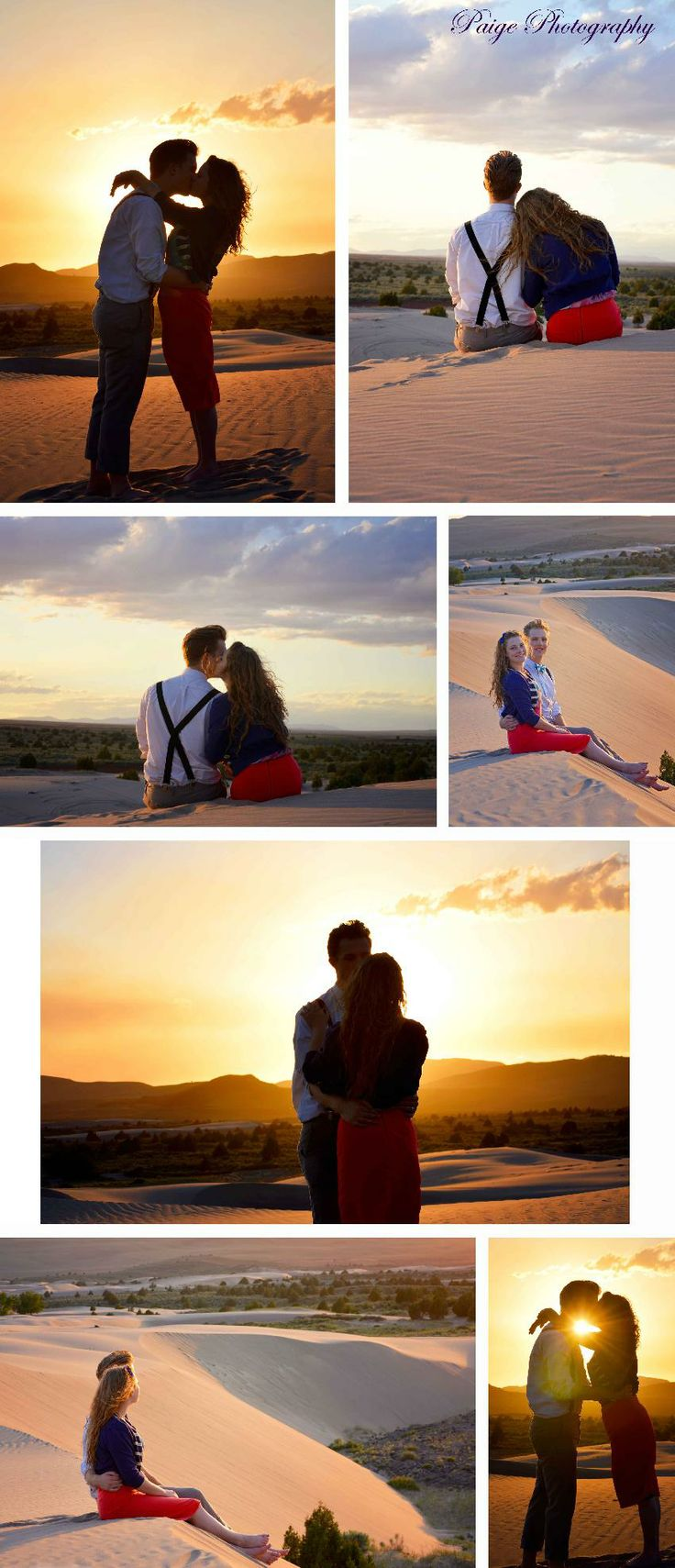 Top left photo Paige Photography | Engagements/Couples | Anniversary Photography | Sand Dune Photography | Anniversary Photo-shoot | Engagement Photography | Engagement Pictures