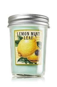 Lemon Mint Leaf 6 oz. Mason Jar Candle - Slatkin & Co. - Bath & Body Works