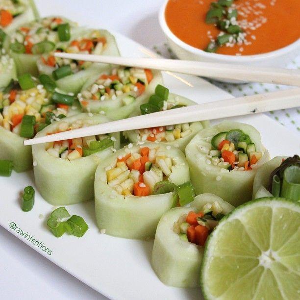Vegetarian Vegan: Best 25+ Cucumber Rolls Ideas On Pinterest