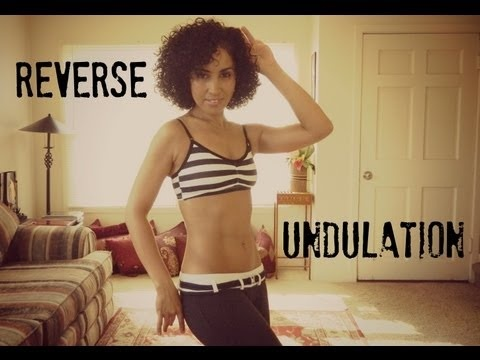 Learn to bellydance: how to do a reverse camel or reverse undulation