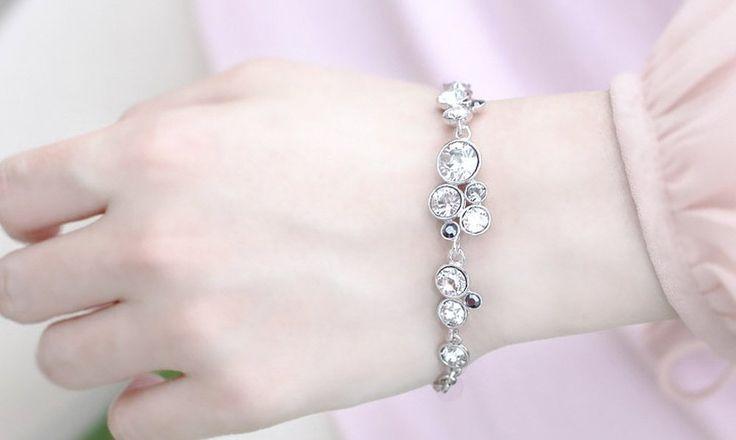 Amazon.com: dearWYW Genuine Swarovski Elements Crystal Bracelets SW566: Jewelry