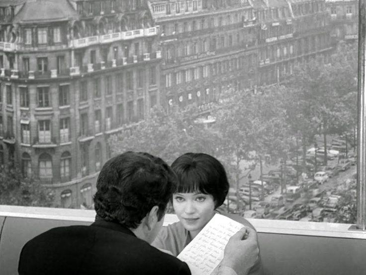 1962. Анна Карина на съемках фильма «Жить своей жизнью» Жана-Люка Годара