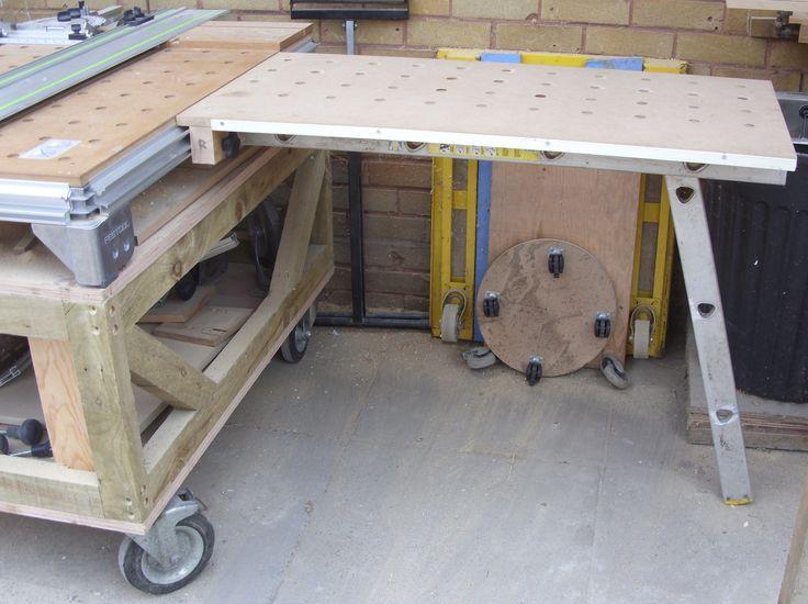 MFT Table Extensions | Festool - MFT Workbench / Sysport | Woodworking garage, Woodworking ...