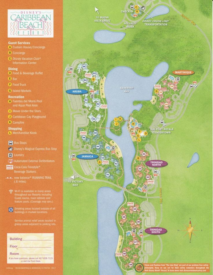 Theming Accommodations, and Villages at Disney\'s Caribbean Beach ...