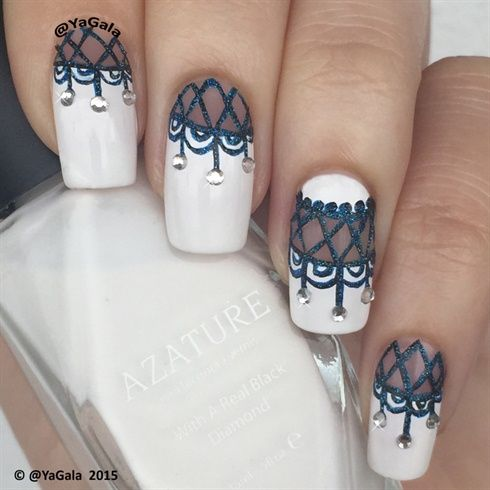 """Lace nail design ✨ Nail polishes Azature"