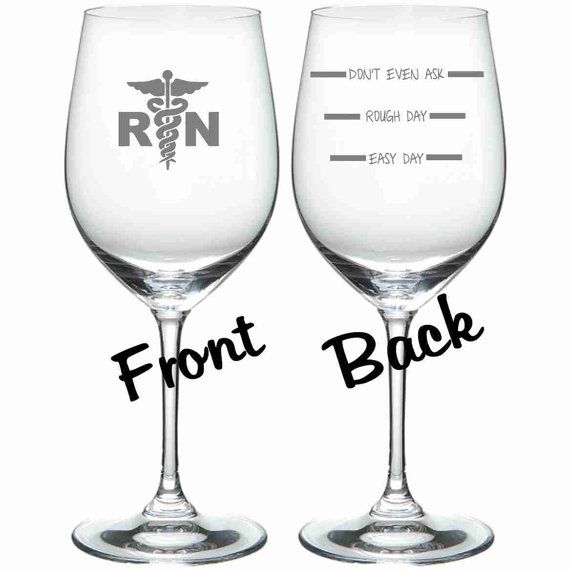 RN Nurse Etched Personalized Funny (sand carved) Choice of Pilsner, Beer Mug, Pub, Wine Glass, Coffee Mug, Water Glass  Choose quantity and style in the drop down menu when ordering. Items are sold in singles, sets of 2, and sets of 4.  FREE personalization up to four words! Please put personalization in the notes section of the order when placing order.  Sand Carved.  Dishwasher Safe.