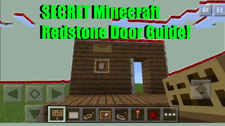 Learn how to build a secret Minecraft redstone door with this guide! Useful for MCPE, minecraft, Minecraft PC, and more!