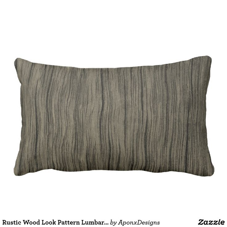 Rustic Wood Look Pattern Lumbar Pillow