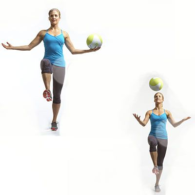 Skip shoulder press, do: Balancing overhead toss - New Moves for a Better-Than-Ever Body - Health Mobile