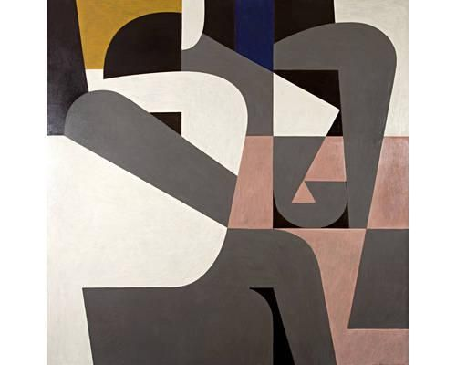 'Eroticon' (1990) by Greek artist Yiannis Moralis (1916-2009). Oil on canvas, 200 x 200 cm. source: Bonham's. via WikiArt