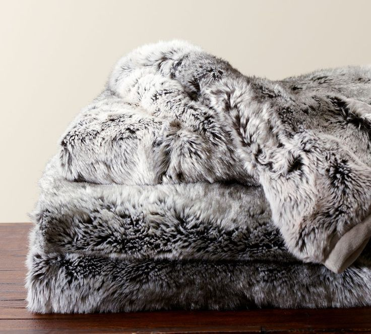 Faux Fur Throw 50 X 60 Gray Ombre