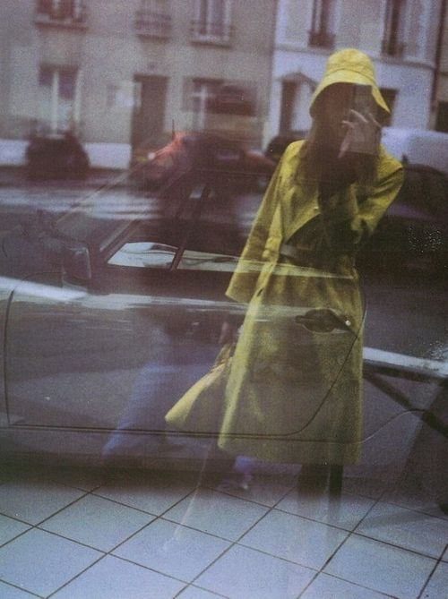 self portrait with trench • paolo roversi for vogue italia