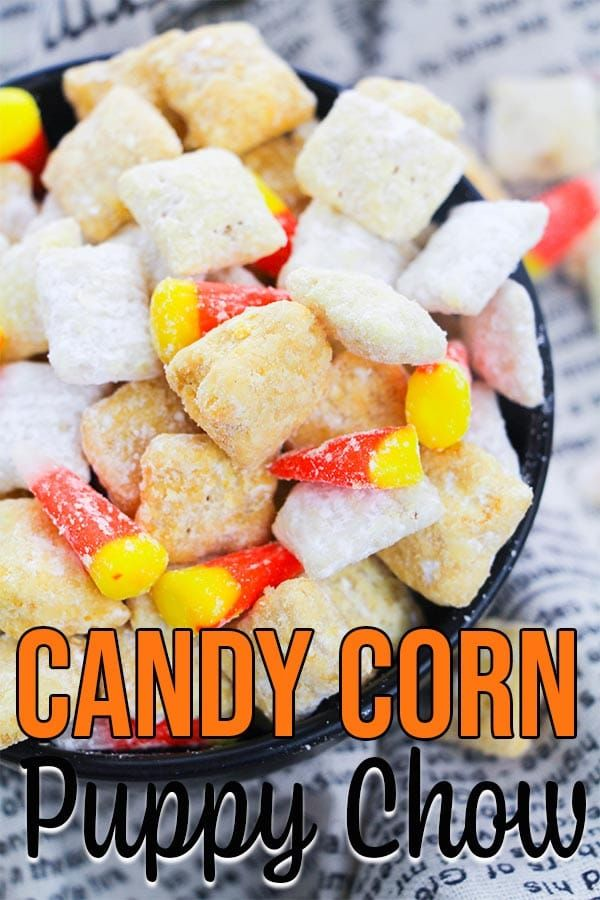 Easy Candy Corn Puppy Chow Recipe Chex Mix Recipes Puppy Chow