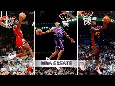 Top 10 NBA Slam Dunk Contest Dunks of ALL TIME - Michael Jordan, Vince Carter, Dwight Howard - YouTube