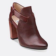 Crumble Sugar Black Leather - Clarks Womens Shoes - Womens Heels and Flats - Clarks - Clarks® Shoes