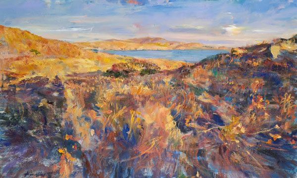 """Στο χώρο τέχνης """"Αποθήκη"""" στη Μύρινα Λήμνου, εγκαινιάζεται στις 7 Αυγούστου, η έκθεση ζωγραφικής του Ανδρέα Κοντέλλη, με θέμα: «Λήμνος»"""