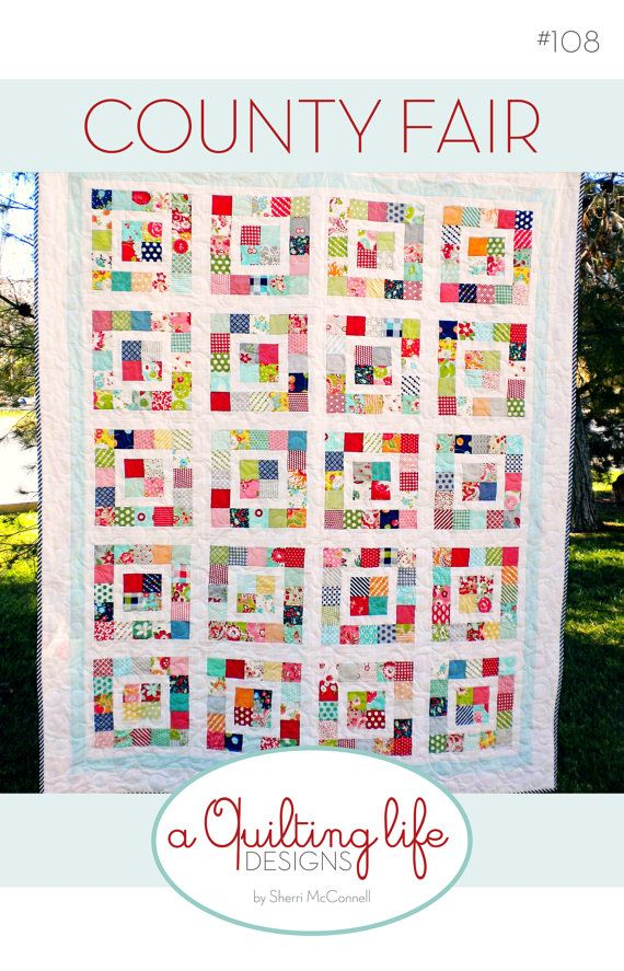 PDF Pattern for County Fair Quilt by SherriQuilts on Etsy
