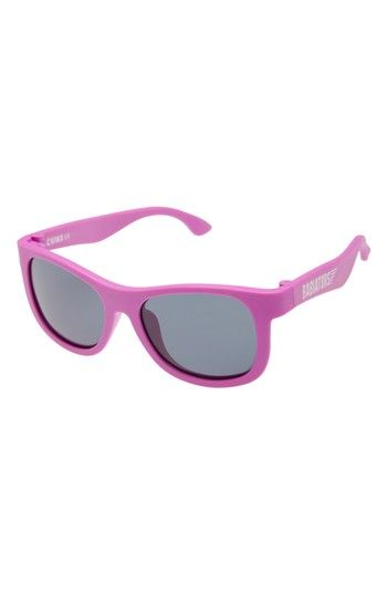 Free shipping and returns on Babiators Original Navigators Sunglasses (Baby & Little Kid) at Nordstrom.com. Bright colors define flexible, BPA-free sunglasses with impact- and shatter-resistant lenses perfect for protecting your little one's eyes from harmful UV rays. Be sure to register your child's pair for Babiators' Lost & Found Guarantee. They'll replace a lost or broken pair for free.