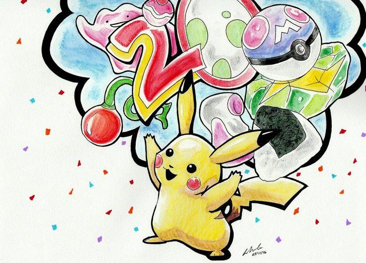 Pokemon 20th Anniversary by Snappedragon on DeviantArt