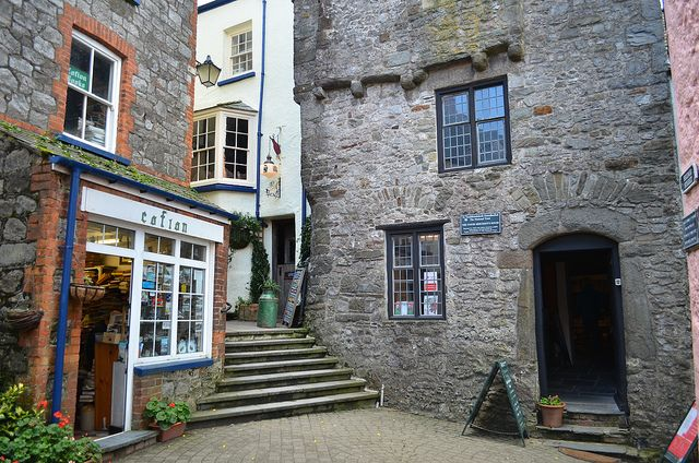 ~ Cofian used book shop ~ Tudor House ~ Tenby ~ Spent so much time in here & bought beautiful vintage postcards.