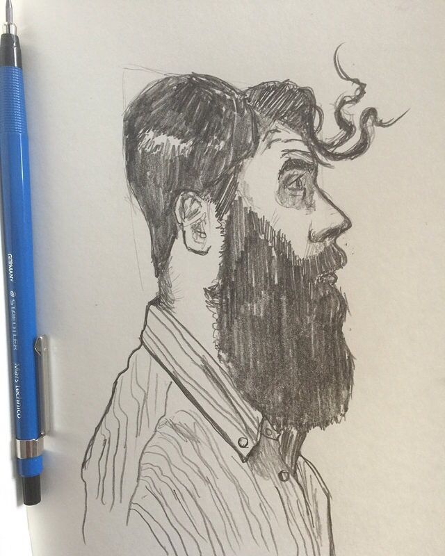 Bearded Man Portrait-Matt Fontaine #sktchyApp