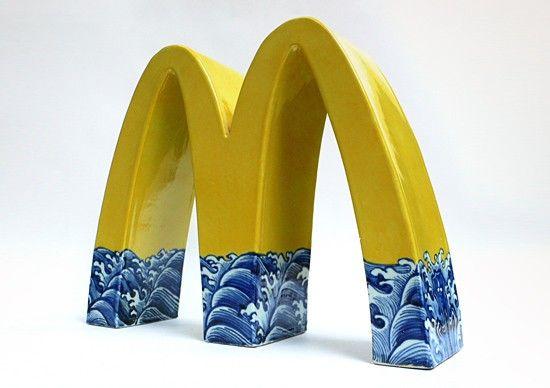 Corporate Logos as Traditional Chinese Ceramics by Li Lihong | Inspiration Grid | Design Inspiration